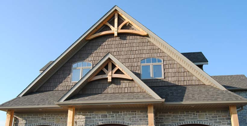Gable trim belk custom builders for Gable designs
