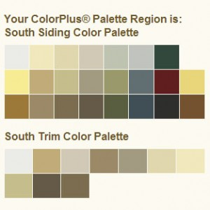 James Hardie Colorplus palette for Charlotte NC