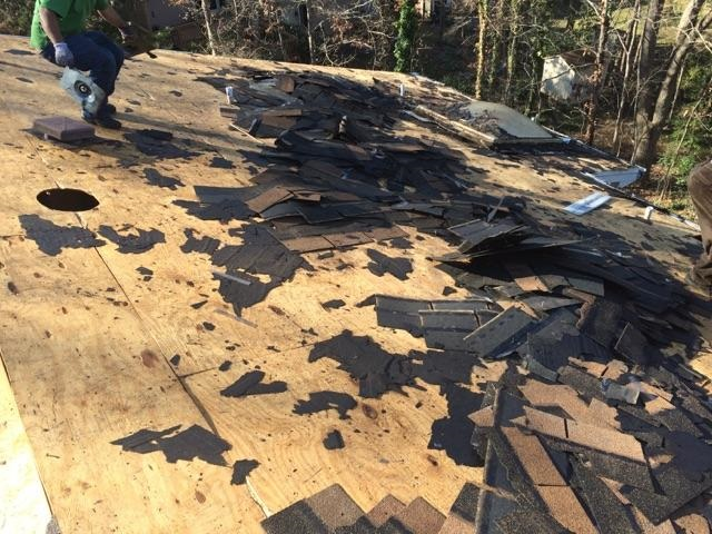 Mold issues detected during removal of existing roof in Matthews NC