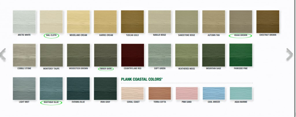 Colors for HardiePlank in Charlotte