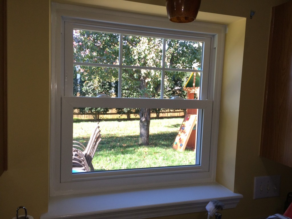 Huntersville, NC, window installation by Belk Builders