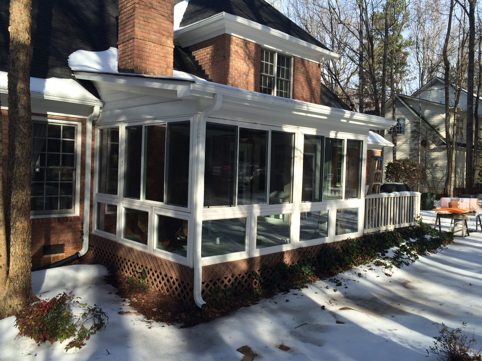 Belk Builders Completes A Screened Porch To Sunroom