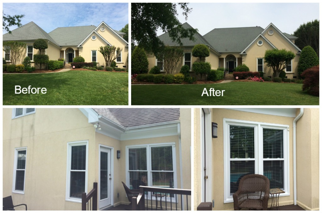 Before and After Window Replacement in Providence Country Club Charlotte NC