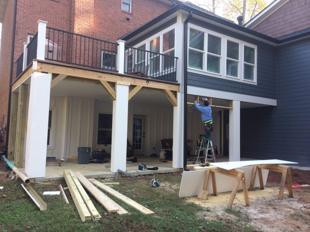 Lake Norman dry deck space projec