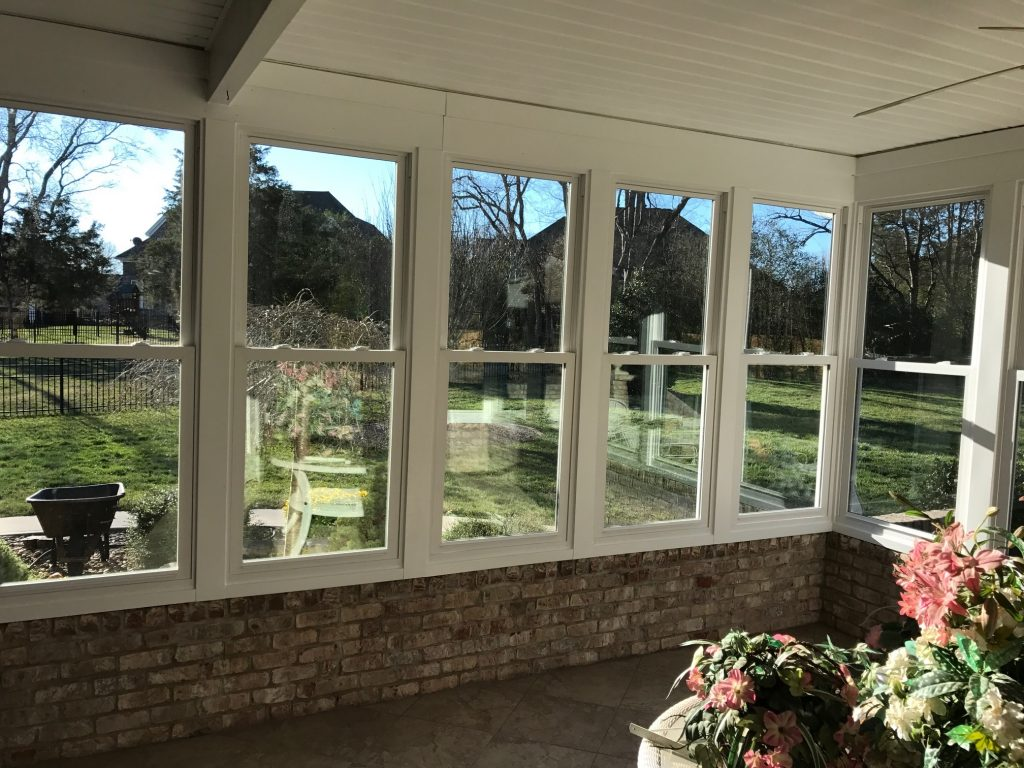 Concord screened porch to sunroom conversion by Belk Builders