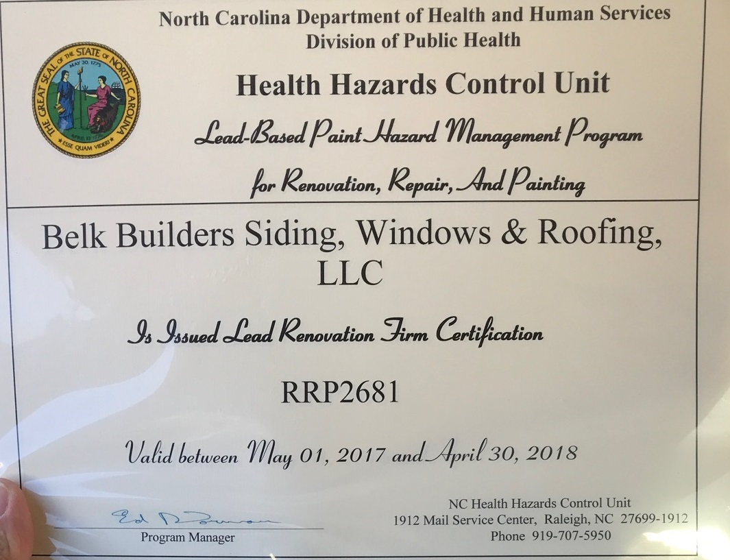 What It Means To Be A Lead Certified Contractor In North Carolina