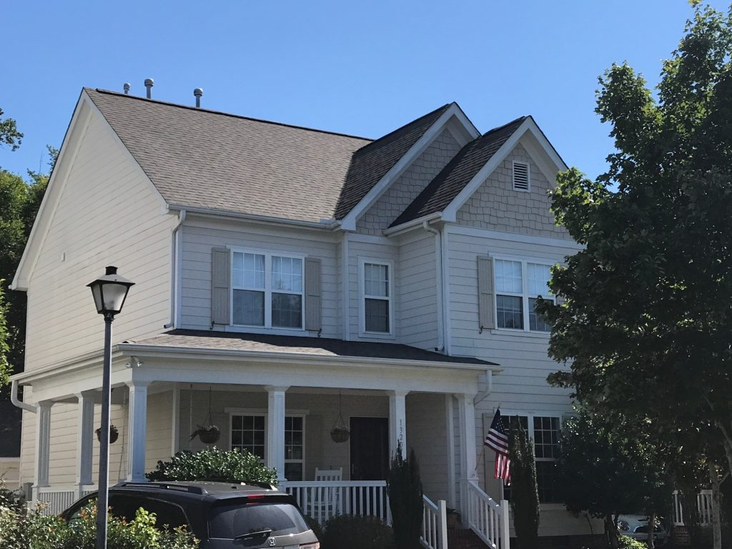 Completed roof replacement in River Run Davidson NC