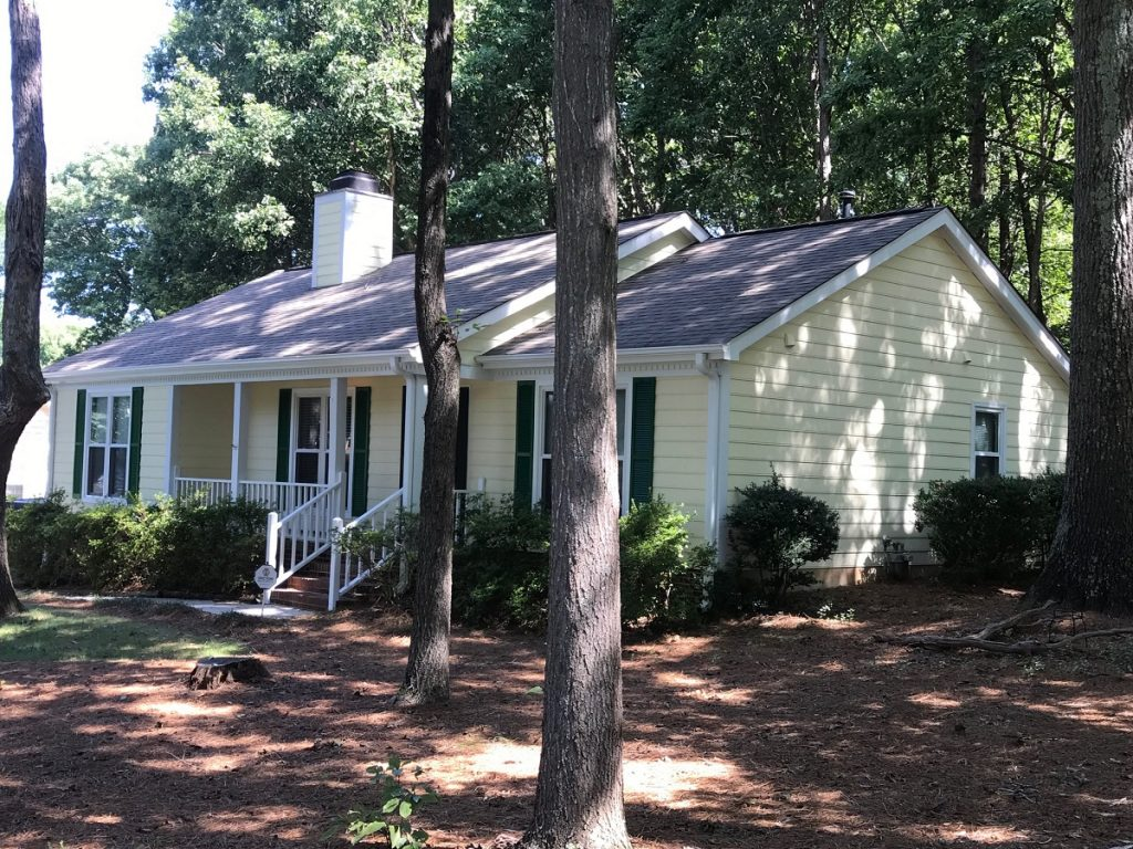 Simonton window and hardieplank siding replacemen in Huntersville