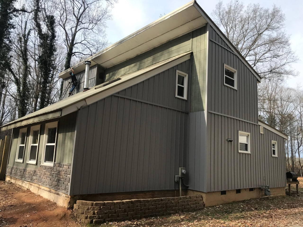Vinyl board and batten siding installation