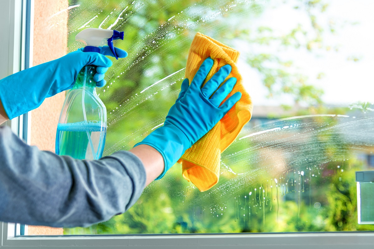 Double-hung windows are very easy to clean