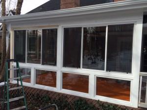 Screened Porch To Sunroom Conversion In Huntersville Nc
