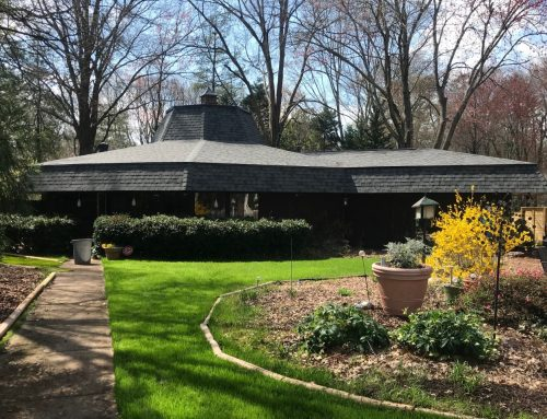 See This Newly Renovated Unique Octagon Shaped Roof! Architectural Shingles Deliver Drama and Longevity