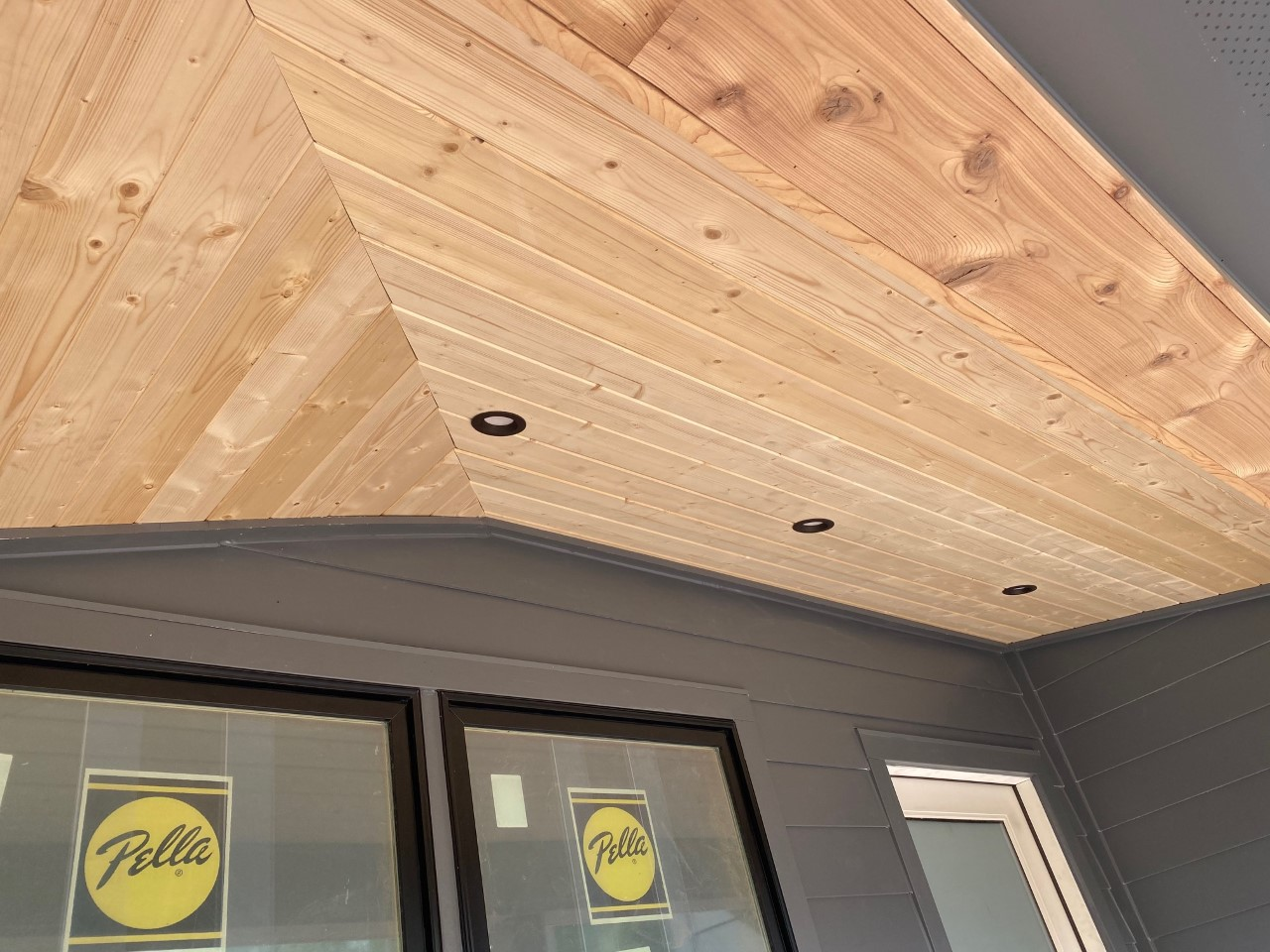 new windows and porch cover in NoDa