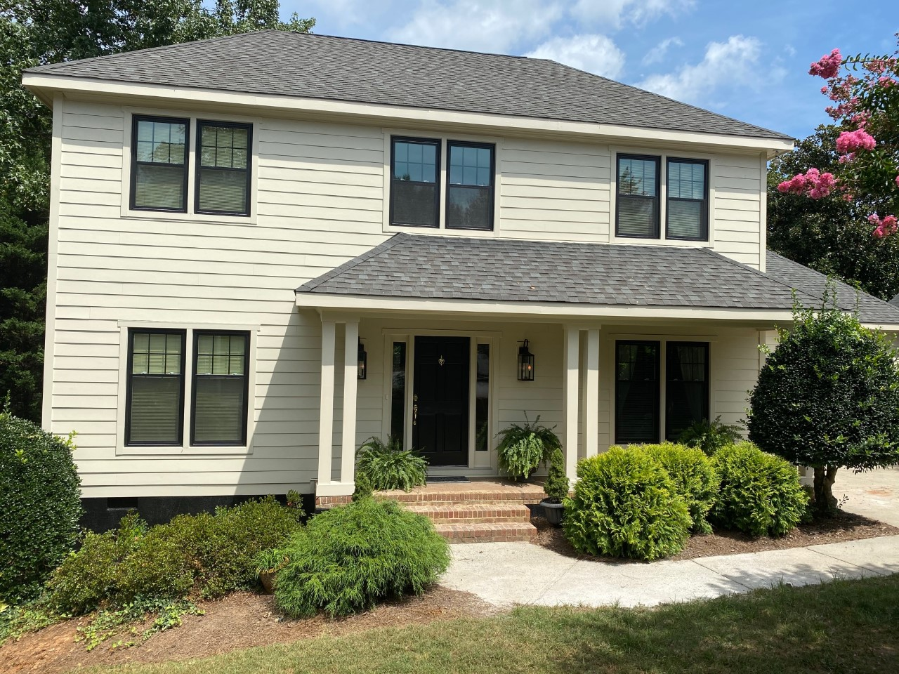 south charlotte black and white home exteriors