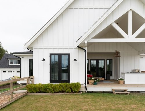 White Home Exteriors With Black Accents Are All The Rage!
