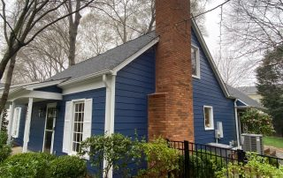 Completed roofing and Hardie . Goshen Place, Charlotte