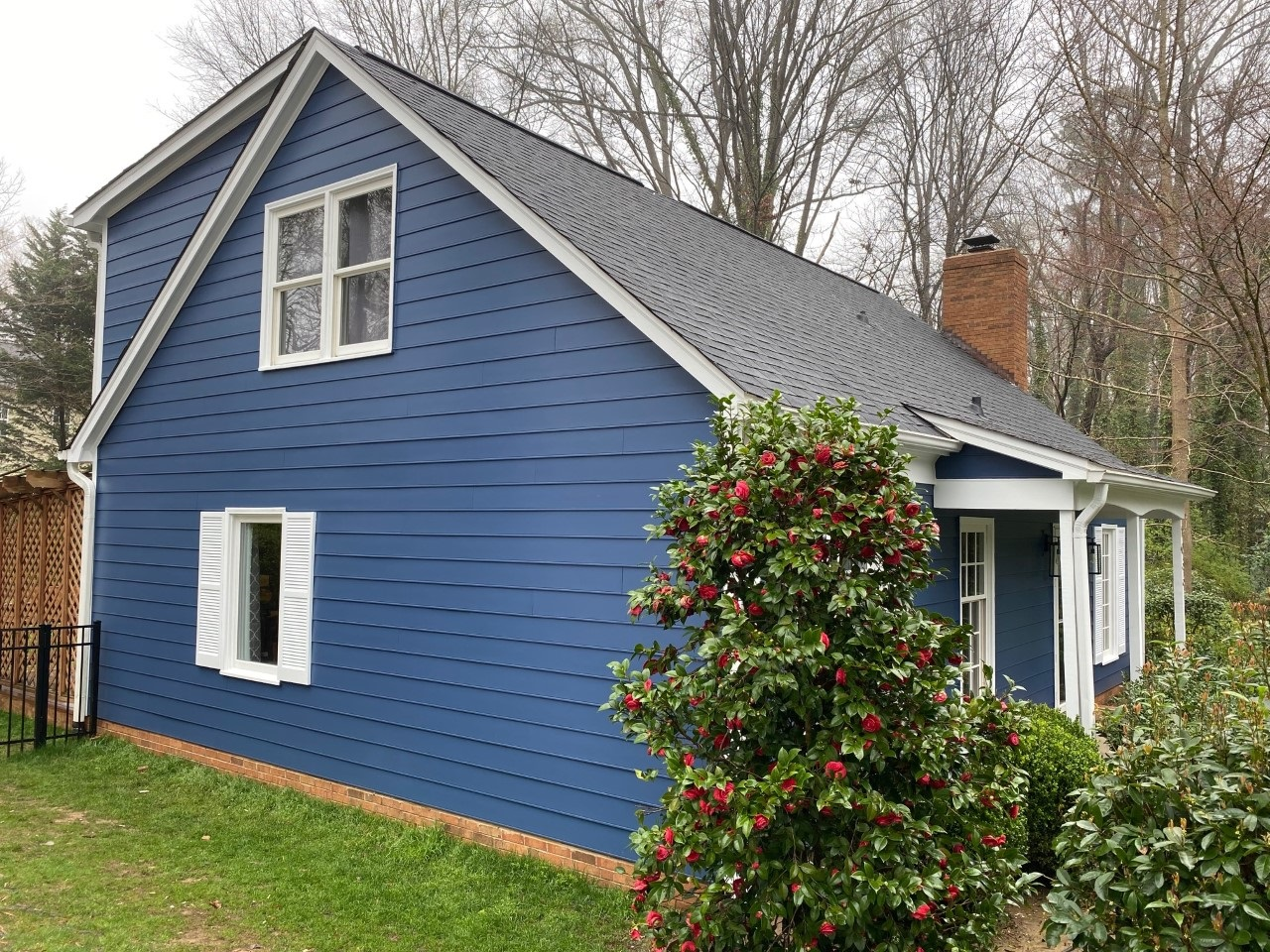 Completed roofing and Hardie . Goshen Place, Charlotte. 28211 side view