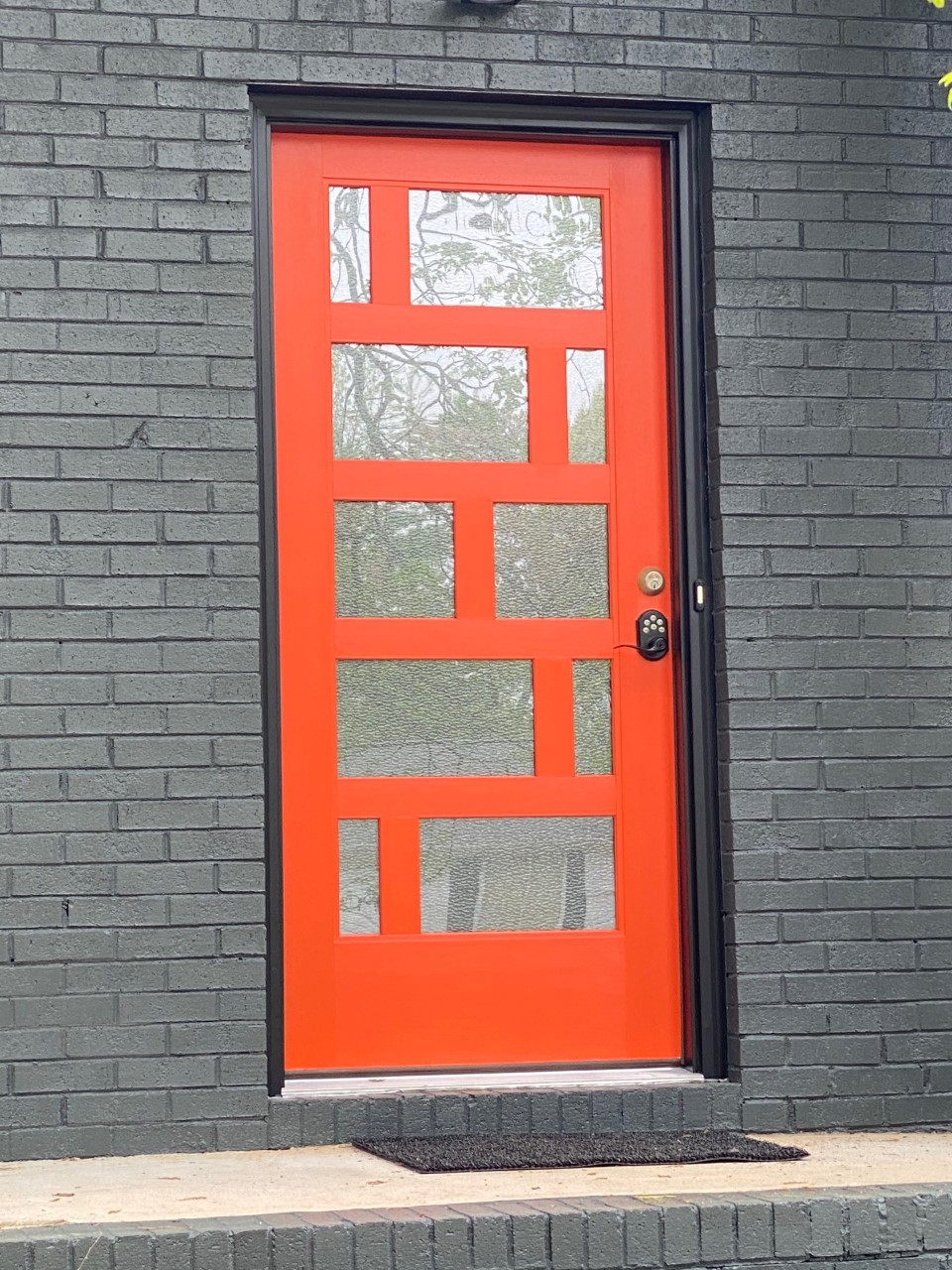 front door replacement mid century modern in south charlotte